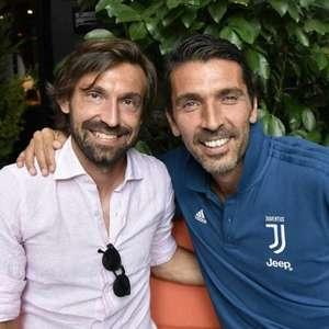 Ex-companheiro de Pirlo, Buffon brinca com novo técnico ...