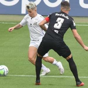Santos sofre empate do Bragantino no último minutos