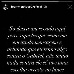 Bruno Henrique nega problemas com Gabigol e pede desculpa