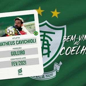 América-MG contrata o goleiro Matheus Cavichioli