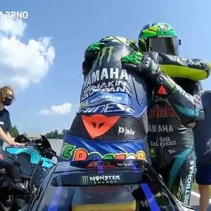 """Morbidelli celebra pódio com Rossi: """"Acreditou em mim ..."""