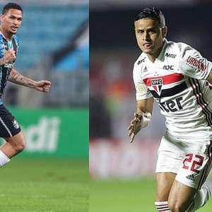São Paulo e Grêmio negociam troca de Everton por Luciano