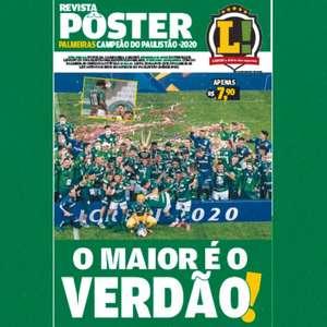 Revista pôster do Palmeiras campeão paulista-2020 nas ...