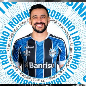 Grêmio anuncia a contratação do meia Robinho, ex-Cruzeiro