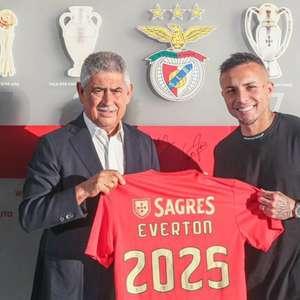 Benfica anuncia as contratações de Everton Cebolinha e mais dois jogadores