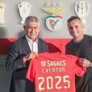 Everton Cebolinha é apresentado como novo reforço do Benfica