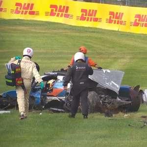 VÍDEO: Laurent leva fechada de Van Erde e sofre acidente ...