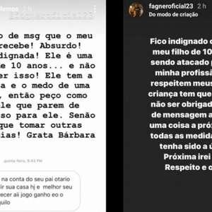 Fagner denuncia ameaça ao filho em rede social após derrota no Dérbi