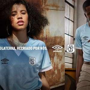 Santos lança 3º uniforme com escudo retrô e cor azul; veja