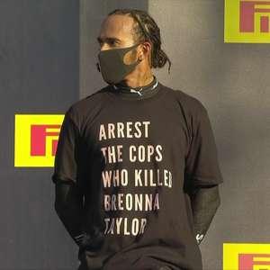 FIA desiste de investigar protesto de Hamilton no pódio