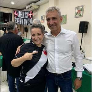 Ao L!, Sonia Andrade apoia reeleição de Campello no Vasco: 'Abriu as portas para uma mulher na gestão'