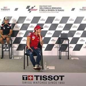 """Morbidelli se atrasa para coletiva e Rossi liga para avisar: """"Estamos te esperando"""""""