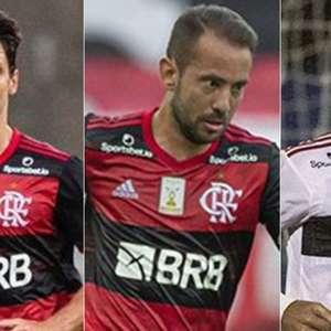 A sequência de jogos do Flamengo sem o trio de jogadores ...