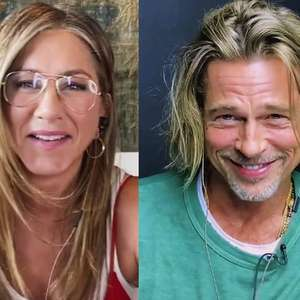 "Evento beneficente viraliza após Jennifer Aniston se ""declarar"" para Brad Pitt"
