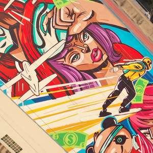Free Fire ganha grafite em prédio do Minhocão, em SP