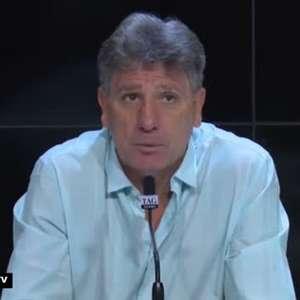 """GRÊMIO: Renato Gaúcho desconversa sobre possível negociação de Jean Pyerre e evita falar sobre jogadores que estão no DM: """"A ordem minha é de não falar nada"""""""