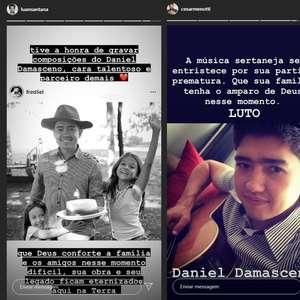 Luan Santana homenageia Daniel Damasceno após morte do ...