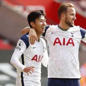 Com quatro gols de Son, Tottenham goleia o Southampton ...