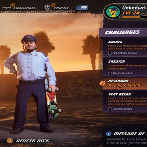 Como desbloquear Officer Dick(Jack Black) em Tony Hawk's ...
