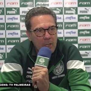 """PALMEIRAS: Luxemburgo destaca dificuldades para confronto contra o Guarani (PAR) pela Libertadores: """"é uma equipe fisicamente muito forte"""""""