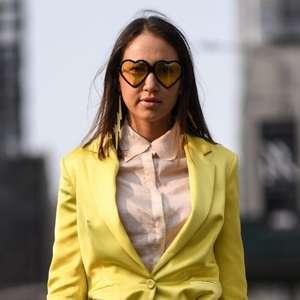 Trend alert! Os óculos amarelos estão com tudo no street ...