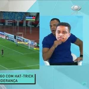 Denilson usa máscara de Keno para brincar com Renata Fan após Inter perder liderança