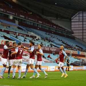 Com um a mais desde o primeiro tempo, Aston Villa faz o ...