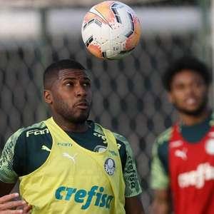 Lucas Lima é novidade em treino do Palmeiras no Paraguai