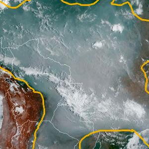 As imagens de satélite que mostram avanço de fumaça de ...