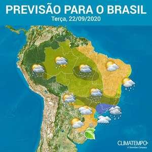 Muita chuva em áreas de SP, RJ, MG, MT, AM e AC