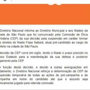 Novo suspende candidatura de Sabará à Prefeitura de São ...