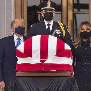 Trump é vaiado em funeral de juíza da Suprema Corte