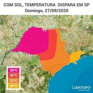 Calor extremo para SP nos próximo dias