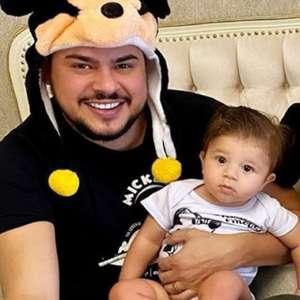 Fotos de filho de Cristiano, dupla de Zé Neto, com ...