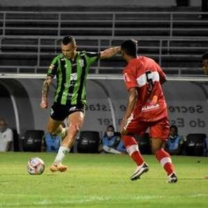 CRB e América-MG lutam, mas não conseguem sair do 0 a 0 em Maceió