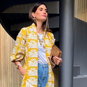 Isabella Fiorentino ensina a usar vestido com calça jeans