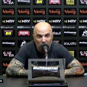 """ATLÉTICO-MG: Sampaoli justifica os excessivos contra-ataques tomados: """"Somos a única equipe que joga totalmente no campo adversário"""""""