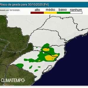 Sul do Brasil terá frio e até geada no fim de outubro