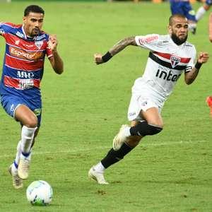 Fortaleza e São Paulo empatam em grande jogo no Castelão