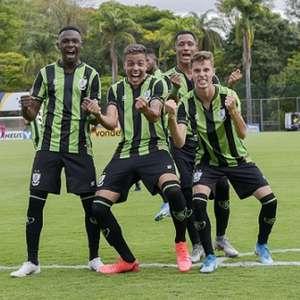 América-MG supera o líder Fluminense pelo Brasileiro sub-20