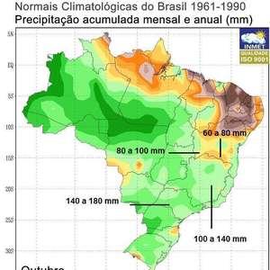 Sudeste do Brasil terá muita chuva até o fim de outubro