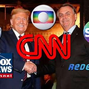 A relação de amor e ódio de Trump e Bolsonaro com as TVs