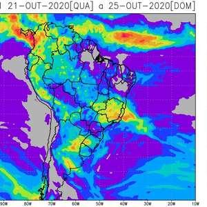 Clima úmido retorna ao Centro-Oeste