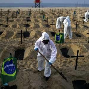 Brasil registra 566 mortes e 24.818 casos de covid-19 em 24h