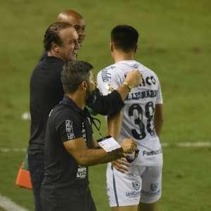 Cuca prega cautela a Marcos Leonardo no Santos: 'Está em ...