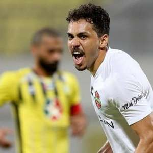 Carlos Eduardo celebra primeiro gol pelo Shabab Al Ahli: ...