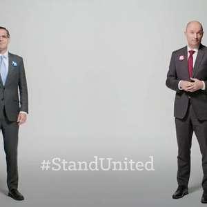 Rivais em eleições nos EUA fazem vídeo para pedir respeito