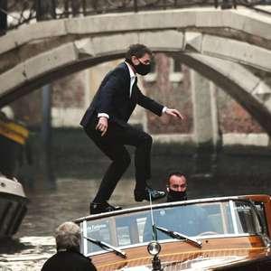 Tom Cruise é flagrado em filmagens de Missão: Impossível em Veneza