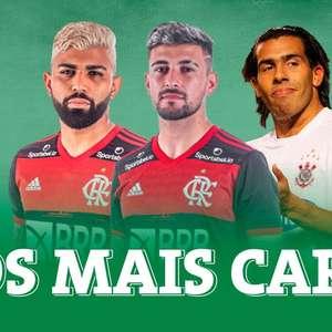 Veja as 20 transferências mais caras do futebol brasileiro