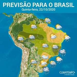 Dia de chuva forte no Sudeste, Centro-Oeste e Norte do Brasil